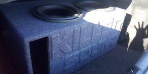 """Massive audio 12"""" gtx subs in custom killer sound box ( Trade ) for Sale in Las Vegas, NV"""