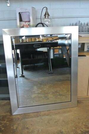 Alpine Art Beveled Mid Century Wall Mirror in Silver for Sale in Mesa, AZ