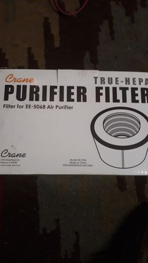 Crane Accessories, Replacement Filter, Tower Air Purifier with True HEPA Filter (EE-5068) for Sale in Ontario, CA