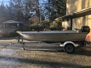 Aluminum boat and trailer for Sale in Everett, WA