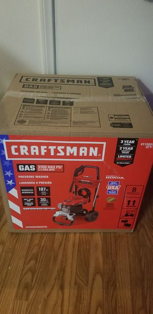 BRAND NEW, CRAFTSMAN3200-PSI 2.4-GPM Cold Water Gas Pressure Washer with Honda Engine CARB Item #1150575Model #CMXGWAS020735 for Sale in Las Vegas, NV