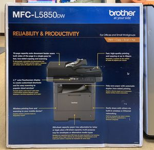Brother Monochrome Laser All-In-One Printer, Copier, Scanner, Fax, MFC-L5850DW for Sale in Wheaton, MD