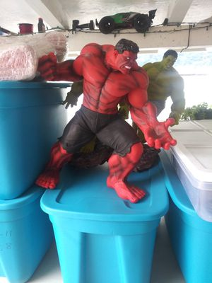 Red Hulk Collectable (Rulk) Marvels Action Figure Big Around 2 foot tall for Sale in Montclair, CA