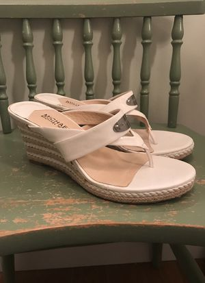 SIZE 8 white Michael Kors wedges for Sale in Fairfax, VA