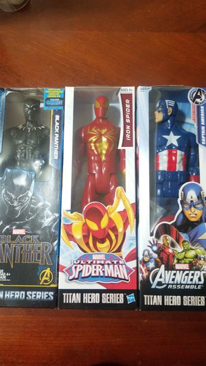 Kid's Toy's Marvel Spiderman Captain America Black Panther for Sale in Huntington Park, CA