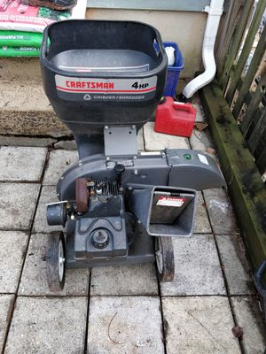 Craftsman 4 HP 3 cutting stage chipper-shredder for Sale in Chantilly, VA