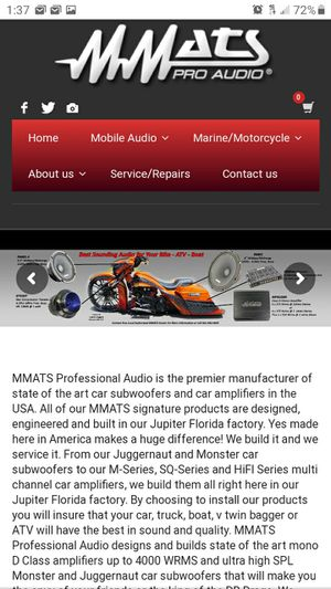NEW Mmats Pro Audio Competition Grade Speakers and Amplifiers for Sale in Clearwater, FL