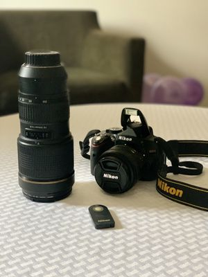 Nikon D5100 with lenses, including Tamron AF70-200mm F/28 Model A001. for Sale in Joliet, IL