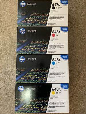 HP Toner for CP4025, CP4525 laserjet printer. 648A, 647A for Sale in Seattle, WA