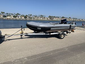Zodiac 14 ft inflatable w/40hp Mercury & Trailer for Sale in Torrance, CA