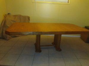 Solid oak dining table for Sale in Saint Petersburg, FL