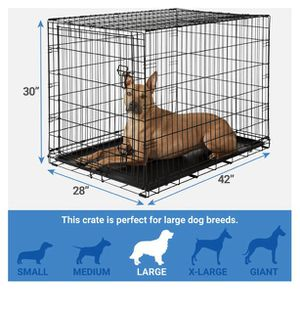 """Frisco fold & carry single door dog crate 42"""" for Sale in Rockville, MD"""