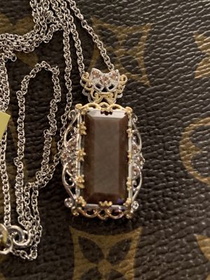 NATURAL CHOCOLATE SAPPHIRE PENDANT 16.28cts. for Sale in Louisville, KY