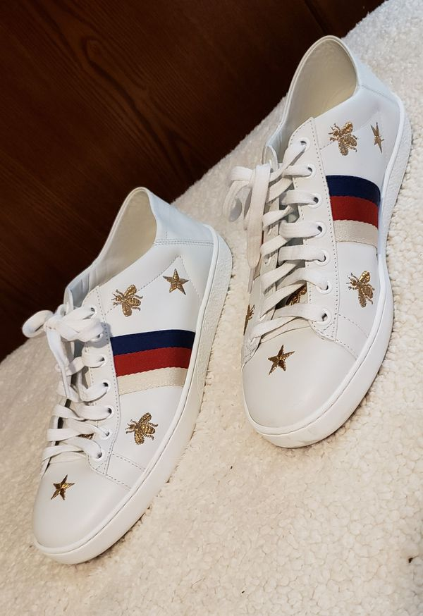 017661705 Gucci Ace Embroidered,leather collapsible heel sneakers for Sale in ...