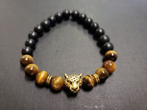 * NATURAL STONE -Lion Onyx Tiger Eye Bracelet (Block & remove negative energy, healing, power, decision making & $$ making ) for Sale in Rancho Cucamonga, CA