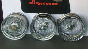 "20"" WIRE WHEELS - straight lace - standard - reverse for Sale in Austin, TX"