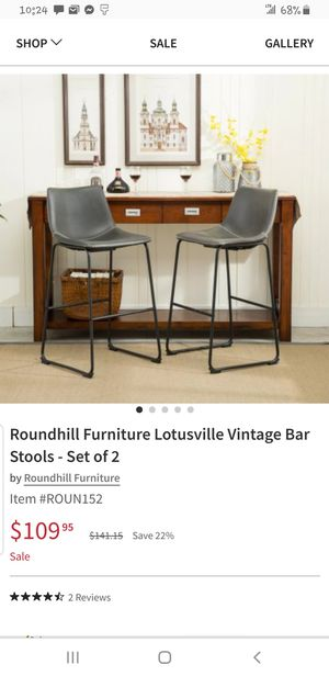 Set of 2 bar stools for Sale in Duncan Falls, OH