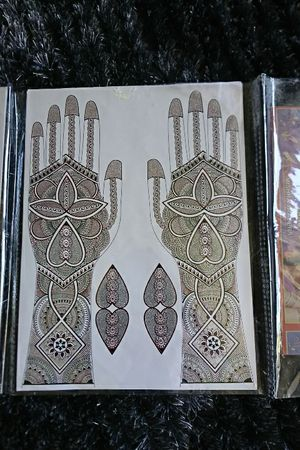12 sheets of Henna tattoo water transfer decal with silver sparkle for Sale in Scottsdale, AZ