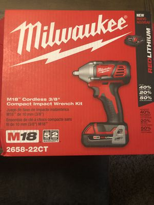 Milwaukee M18 3/8 compact wrench for Sale in Austell, GA