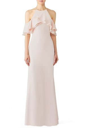 Badgley Mischka Blush Crossover Gown (formal, bridesmaid) for Sale in San Francisco, CA