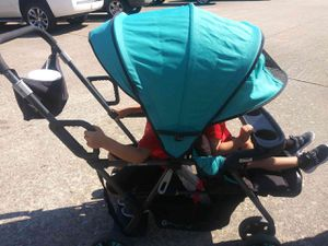 Double stroller sit and stand doble carriola for Sale in Houston, TX