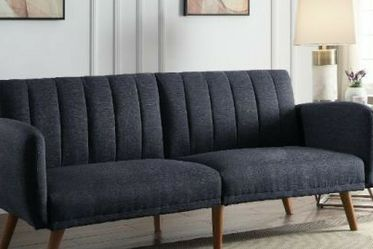 Online Price ‼️🎉🎊 Gray Line Sofa to Sleeper (Futon/Sofa Bed) • Delivery • Assembly • FREE 🔥 Financing ‼️Same as cash for Sale in Henderson,  NV