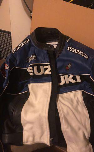 Suzuki GSXR all leather joe rocket motorcycle jacket size $46 for Sale in Fairfield, CA