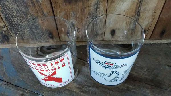 Vintage Bar Glasses 1970s