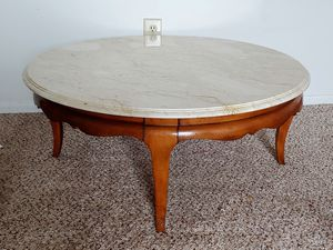 Antique Marble/Wood Coffee Table for Sale in Columbus, OH