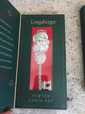Longaberger Pewter Santa Key 2002 for Sale in San Diego, CA