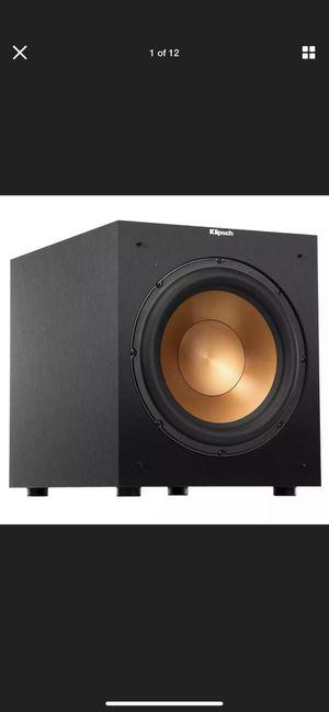 Klipsch R-12SW Reference Powered Subwoofer Speaker Deep Base 400 Watts Crisp for Sale in Miami, FL