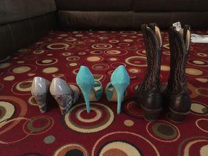 Boots and high heels for Sale in Manassas, VA