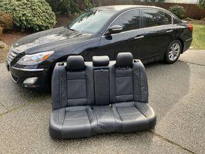 Hyundai Genesis back seat black leather for Sale in Lynnwood, WA