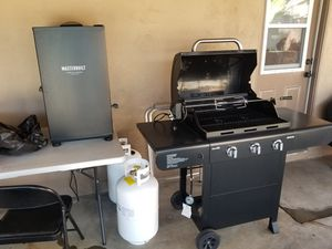 Master built smoker and bbq grill with rotisserie kit for Sale in El Cajon, CA