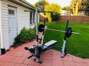 Bench Press - Lat Pull Down - Olympic Weights - Olympic Bar - Work Out for Sale in Downers Grove, IL