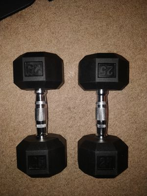 25 Lbs dumbbell weights for Sale in Los Angeles, CA
