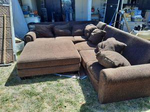 Couch with ottoman for Sale in Hemet, CA