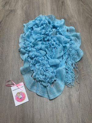 Tiffany Blue adorable scrunchie scarf with fringe! for Sale in Burlingame, CA