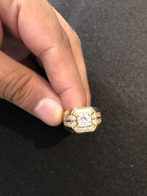 18kmgl (gold-filled , not plated or stainless ) cz link ring - size 9 , includes 2 year warranty . for Sale in Wesley Chapel, FL