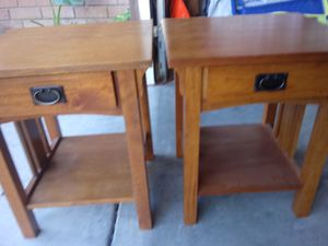2 wood tables. Heavy for Sale in Ontario, CA