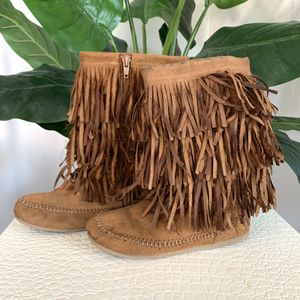 Girls MUDD Brown Fringe Boho Chic Boots for Sale in Goodyear, AZ