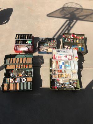 Huge lot of vintage tackle boxes for Sale in Clovis, CA