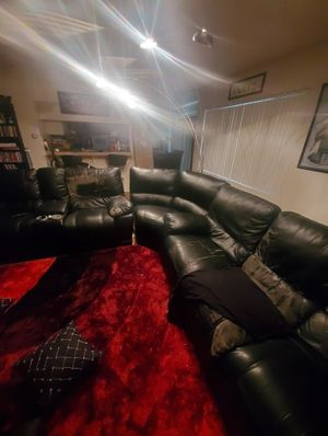 Sectional couches sofa and arch lamp for Sale in Downey, CA