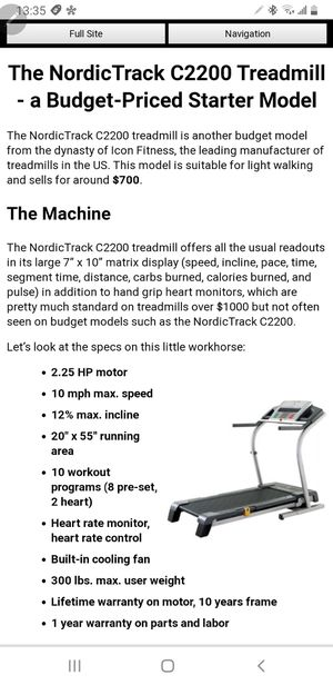 BRAND New NordicTrack C2200 treadmill i for Sale in Orlando, FL