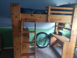 Solid wood loft bed for Sale in Calimesa, CA