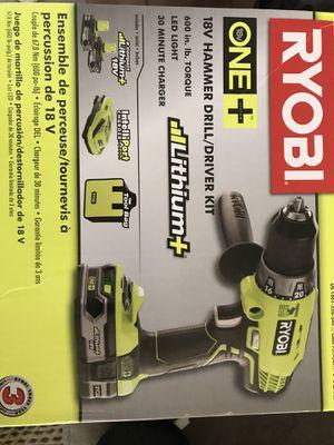 Ryobi one 18v Hammer Drill/Driver kit for Sale in Nashville, TN