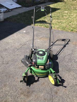 John Deere mower. Craftsman garden trailer for Sale in Trenton, NJ