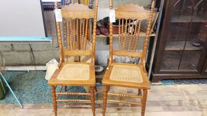 Wood Rose Carved Ornate Press Back Chairs for Sale in Denver, CO