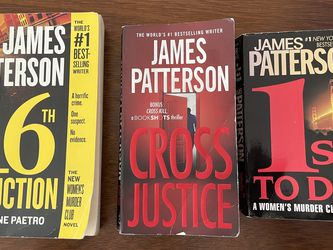 Set Of 3 James Patterson Books for Sale in Fort Lauderdale,  FL