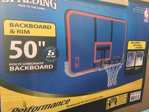 Backboard and rim for Sale in Dallas, TX